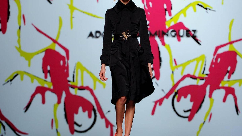 Modelo de Adolfo Domínguez en la Cibeles Madrid Fashion Week (Getty)