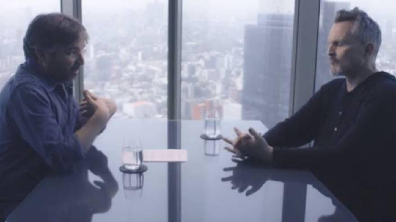 Miguel Bosé y Jordi Évole, durante la entrevista. (La Sexta)