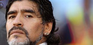 Post de Diego Maradona, el hombre mitológico
