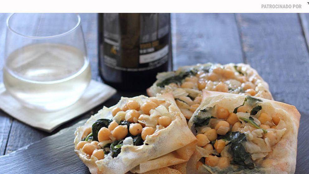 Cestitas de garbanzos con espinacas: para no olvidar las legumbres en verano