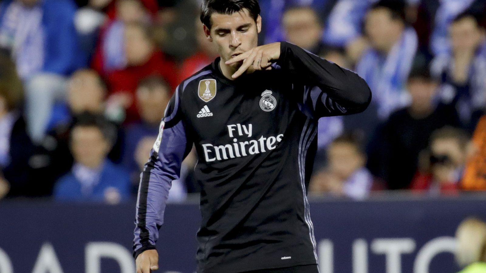 Foto: Álvaro Morata celebra un gol durante su segunda etapa en el Real Madrid. (EFE)