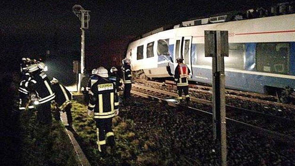 Foto: Choque de trenes en Meerbusch (Cuerpo de Bomberos de Meerbusch)