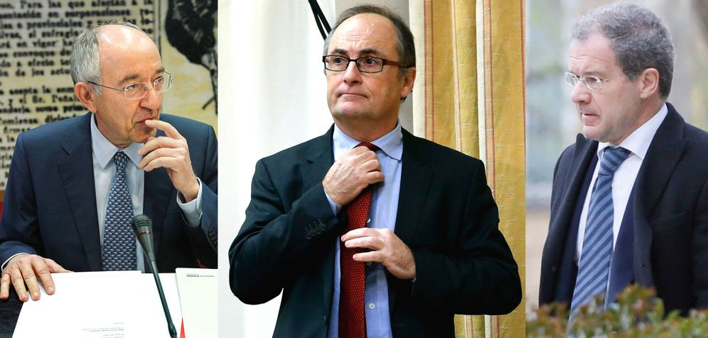 Foto: Miguel Ángel Fernández Ordóñez, Fernando Restoy y Pedro Comín.