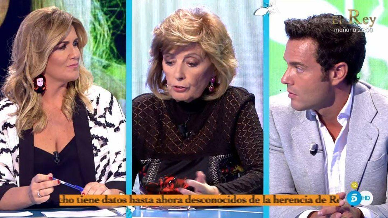 Carlota Corredera, María Teresa Campos y Antonio Rossi. (Telecinco)