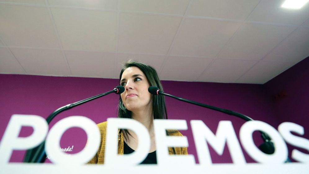 Foto: Irene Montero, portavoz parlamentaria de Unidos Podemos, durante una rueda de prensa. (EFE)