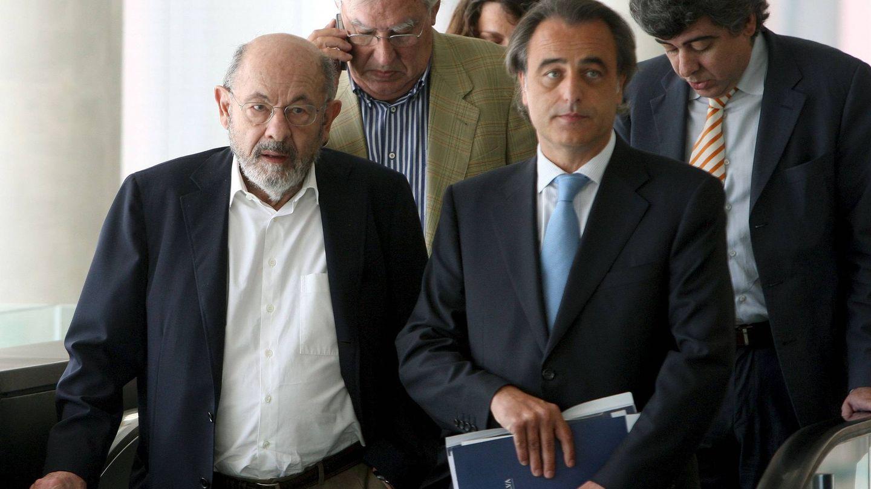 Fèlix Millet, Jordi Montull y los abogados de ambos   Foto: EFE