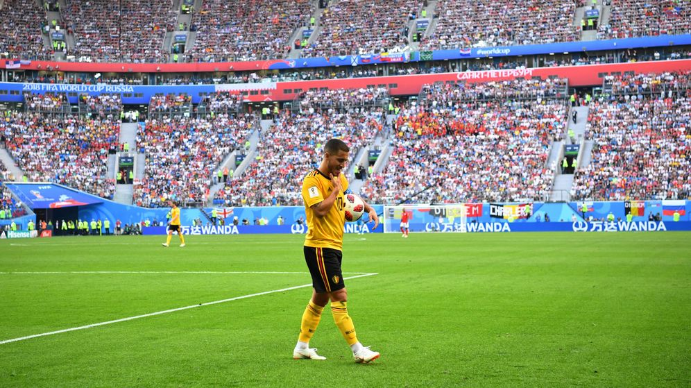 Foto: Hazard, en el partido contra Inglaterra. (Reuters)