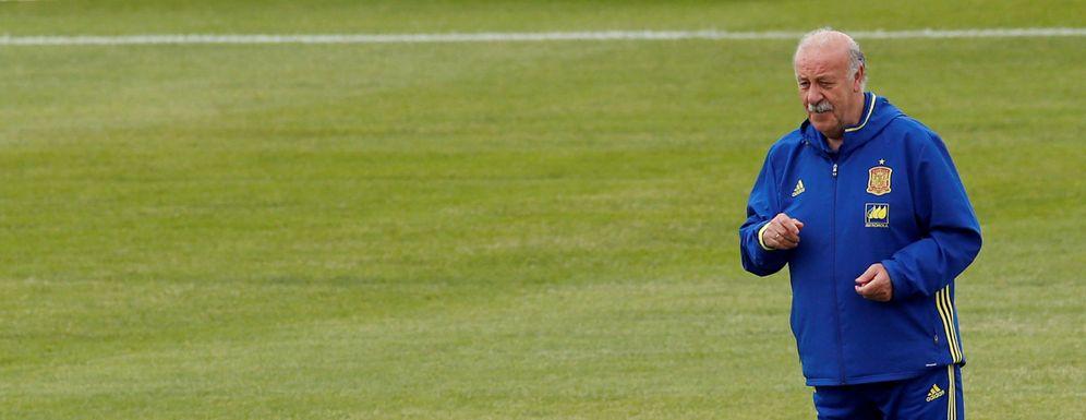 Foto: Vicente del Bosque, durante un entrenamiento de la Selección (Reuters)