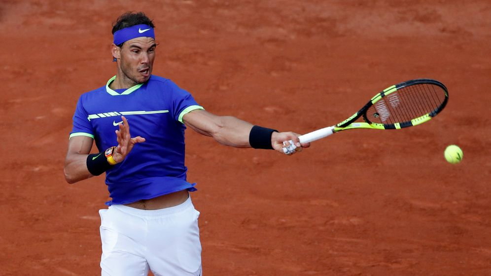Foto: Rafa Nadal, en su partido contra Basilashvili. (Reuters)