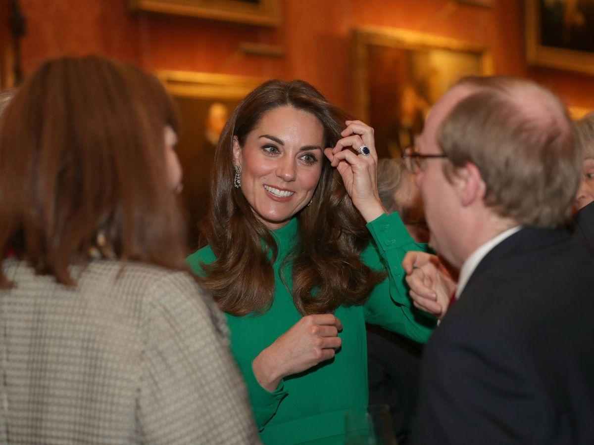 Foto: Kate Middleton, este martes en Buckingham. (Cordon Press)