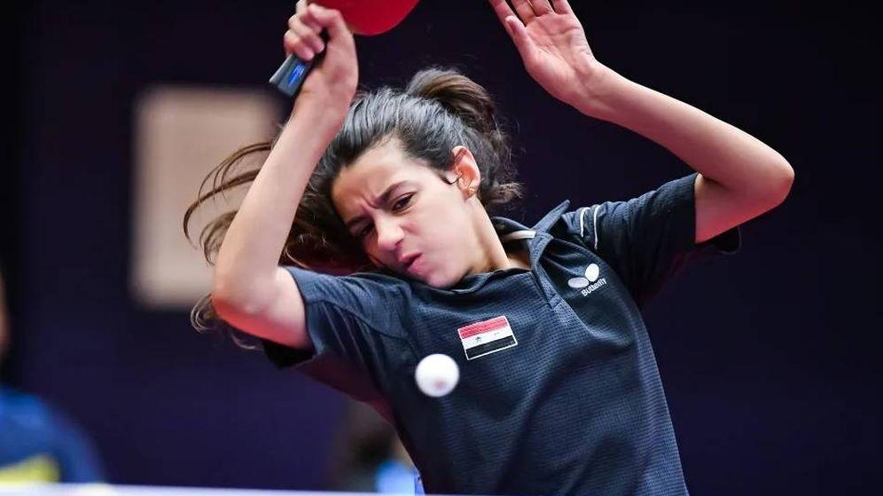 Foto: Hend Zaza, la niña siria que competirá en los JJOO de Tokio 2020 con 11 años. (Foto: Federación Internacional de Tenis de Mesa)