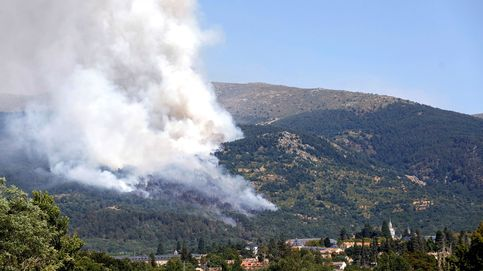 Los bomberos frenan el fuego de La Granja (Segovia) pero trabajan sin bajar la guardia