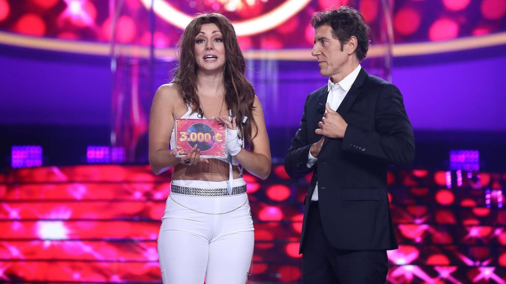 Foto: Mimi Doblas con el premio de'TCMS' (Atresmedia)