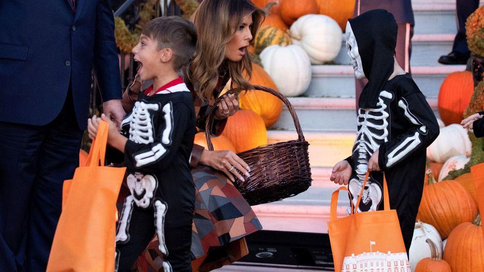 Foto: Melania Trump, en la fiesta de Halloween de la Casa Blanca. (EFE)