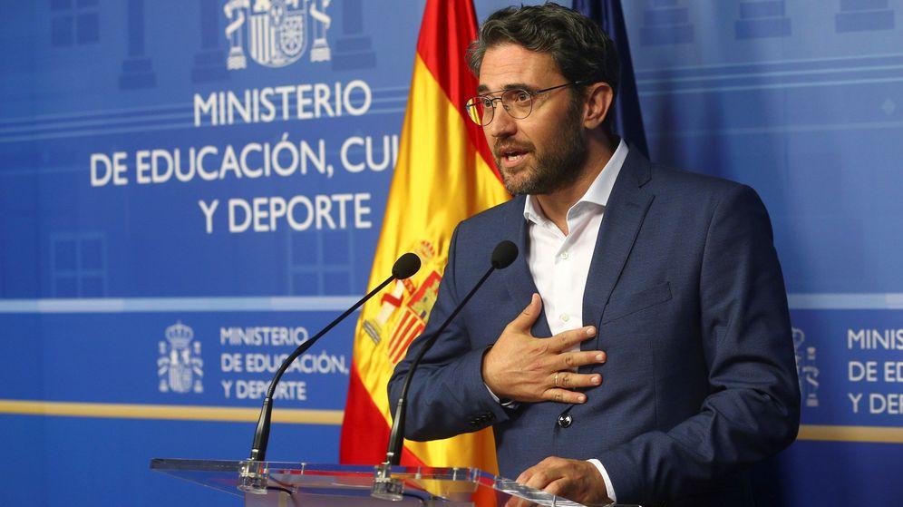 Foto: El exministro de Cultura Máxim Huerta anuncia su dimisión. (EFE)