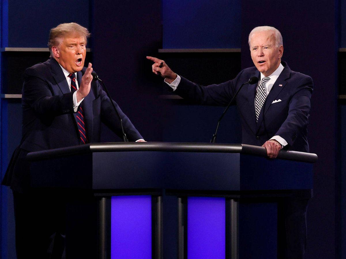 Foto: Donald Trump y Joe Biden, enfrentados en el debate electoral. (Reuters)