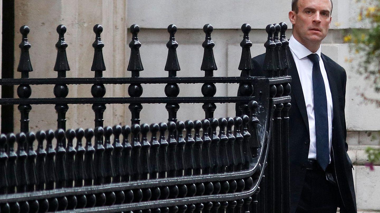 Dominic Raab, negociador británico del Brexit, tras su infructuoso viaje a Bruselas. (Reuters)