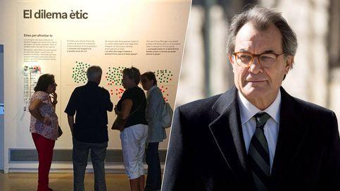 ERC inaugura un 'museo de la corrupción' a las puertas del despacho de Artur Mas