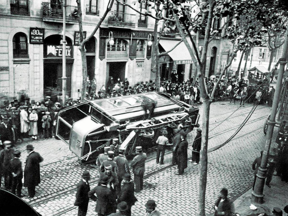 Foto: Disturbios en Barcelona en 1917