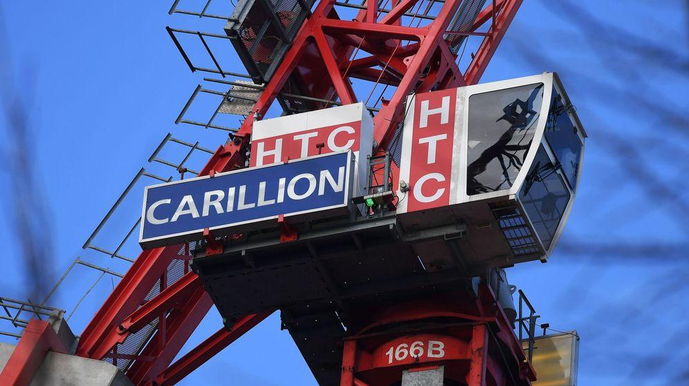 Foto: Vista del logotipo de la empresa británica de construcción y gestión de servicios Carillion. (EFE)