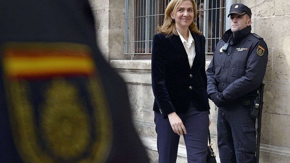 Foto: La infanta Cristina durante su juicio en Palma en febrero de 2014 (GTres)