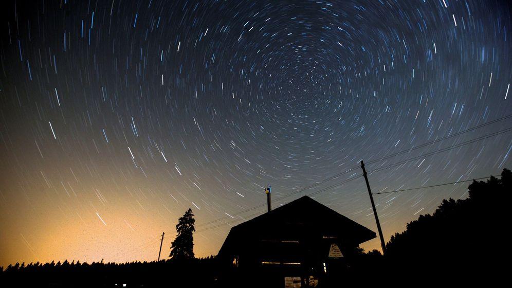Foto: Lluvia de estrellas vista desde Suiza. (EFE)
