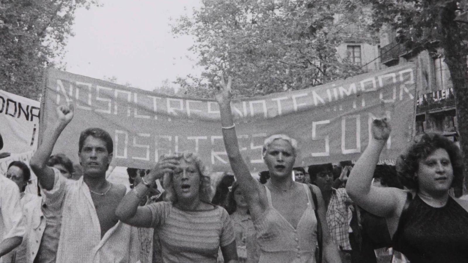Foto: La primera manifestación por el orgullo gay fue en 1977 en Barcelona
