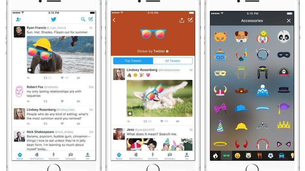 Twitter va a por Snapchat: permitirá añadir 'stickers' a todas tus fotos