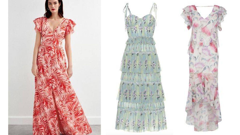 Los vestidos vaporosos casan perfectamente con las flores.