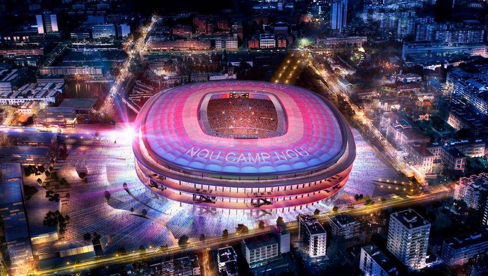 Foto: Imagen del proyecto ganador del concurso arquitectónico para el nuevo Camp Nou. (FC Barcelona)