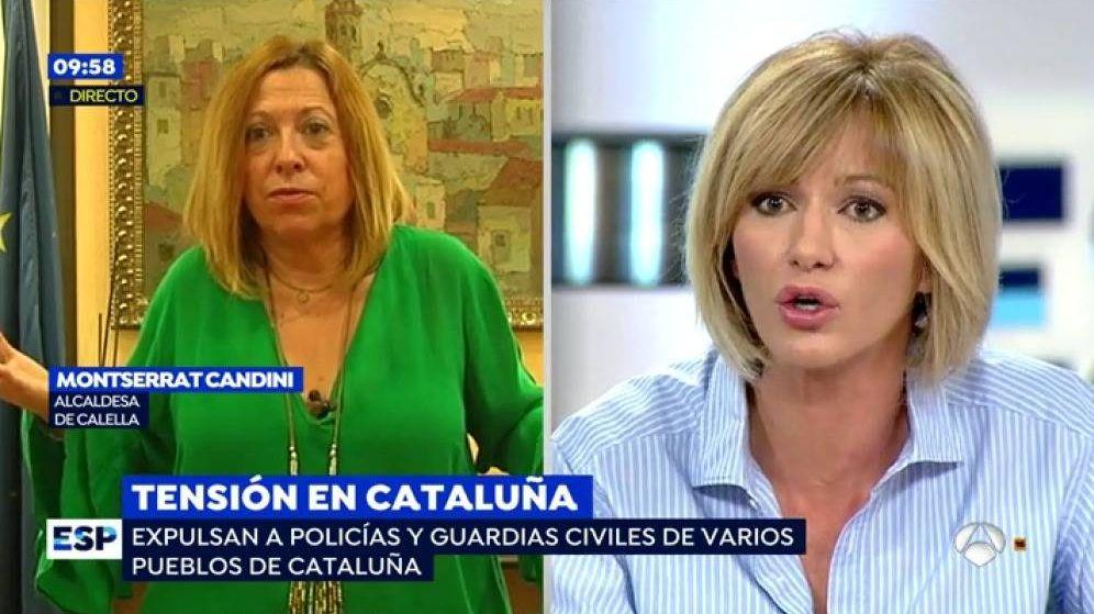 Foto: Máxima tensión en 'Espejo público' entre Susanna y la alcaldesa de Calella.