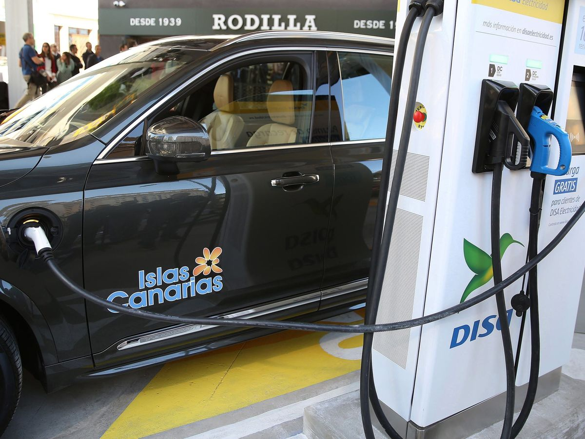 Foto: Gasolinera del grupo DISA en Canarias