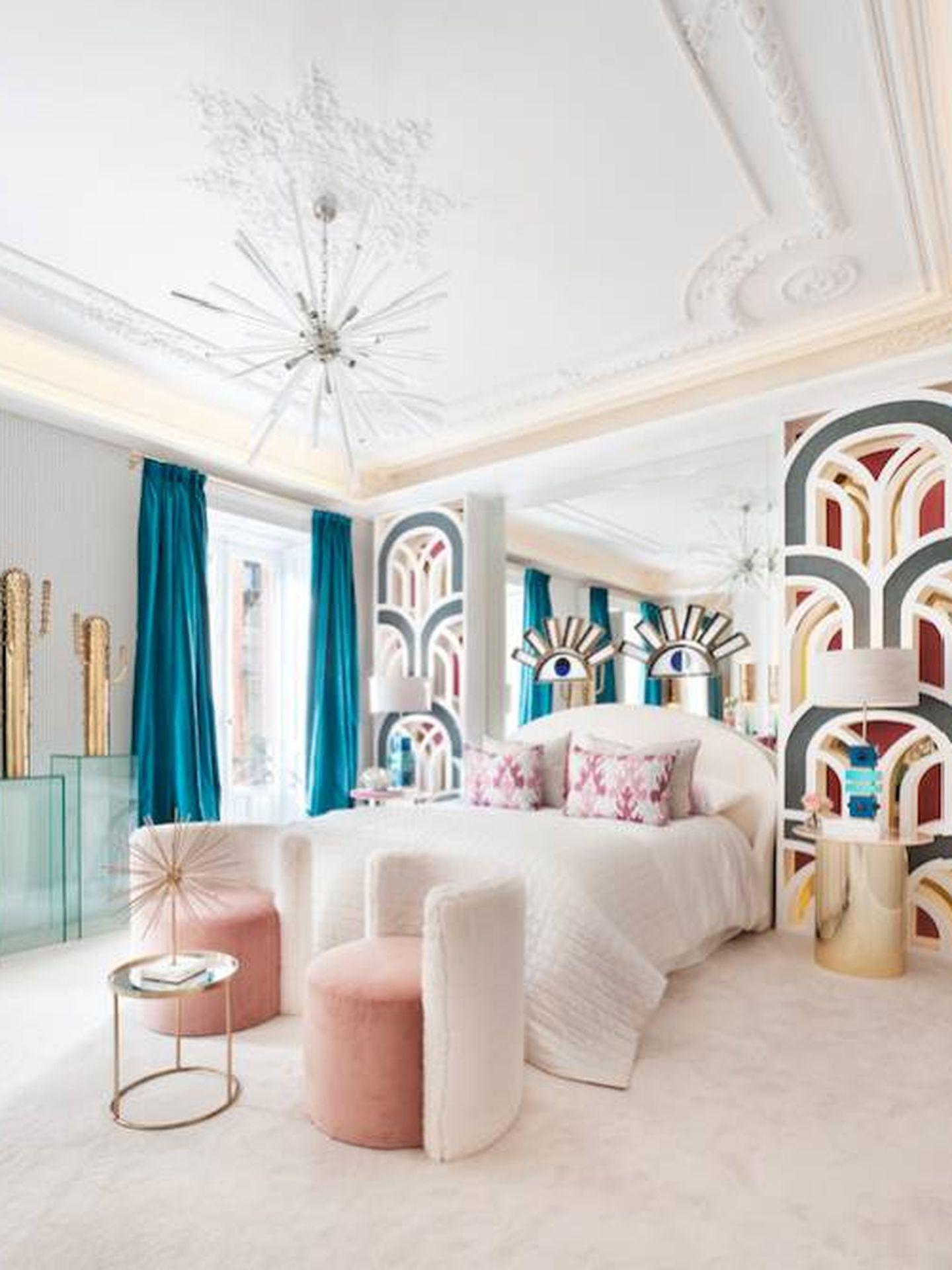 Detalle del colorista dormitorio Sweet Dreams de Nuria Alía. (Imagen: Cortesía/Casa Decor)