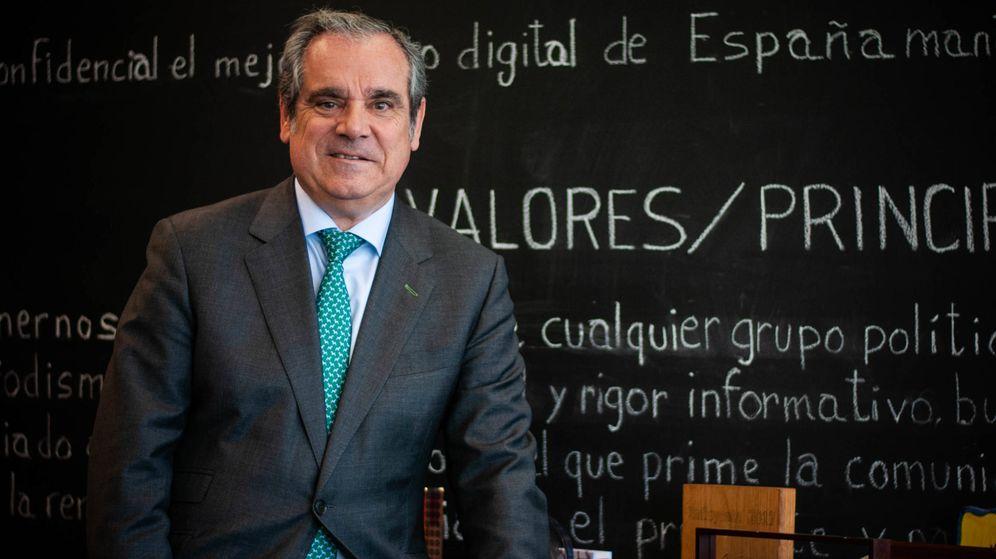 Foto: Jesús Aguilar, presidente del Consejo General del Colegio de Farmacéuticos. (Carmen Castellón)