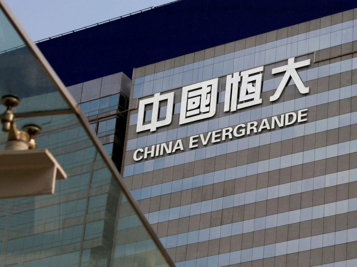 Foto: Oficinas de China Evergrande en Hong Kong. (Reuters)