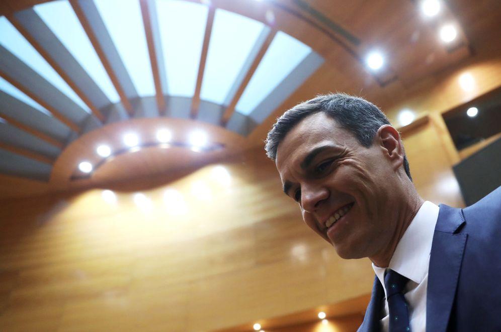 Foto: Pedro Sánchez, este 18 de diciembre a su llegada al Senado, este 18 de diciembre. (EFE)