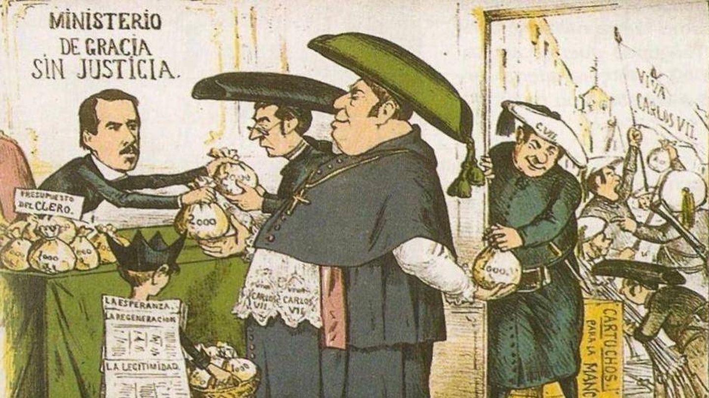 Caricatura de la 'Revista La Flaca' (1869)
