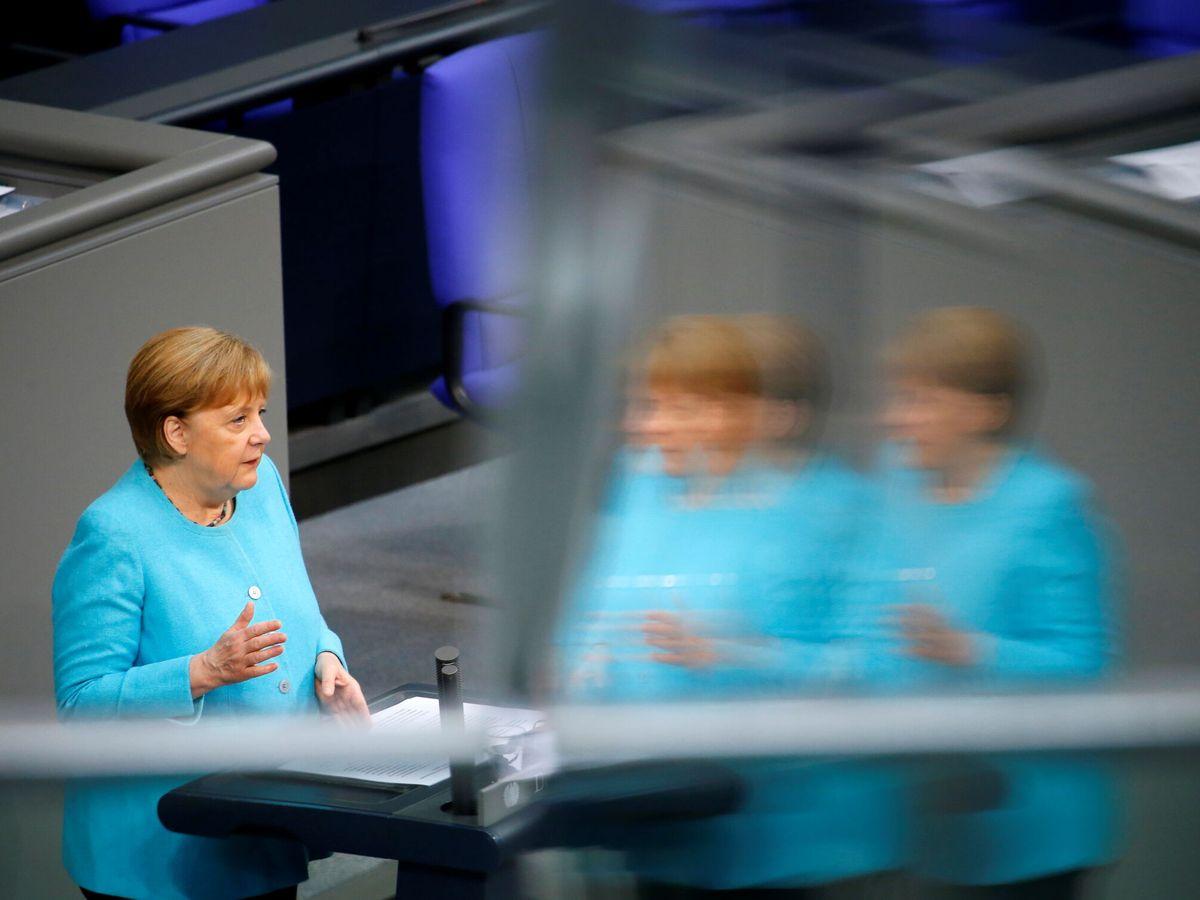 Foto: Merkel, en el Bundestag. (Reuters)