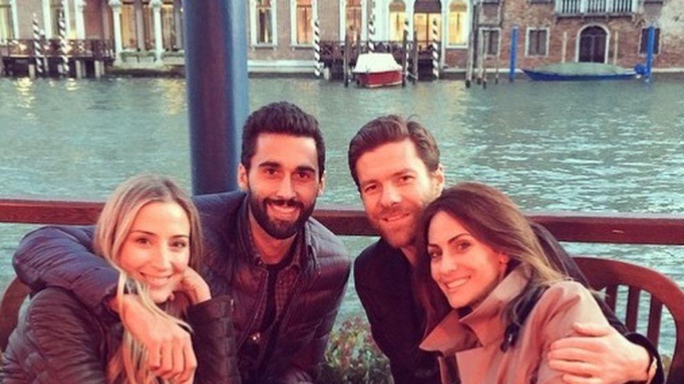 El fin de semana veneciano de Xabi Alonso y Álvaro Arbeloa