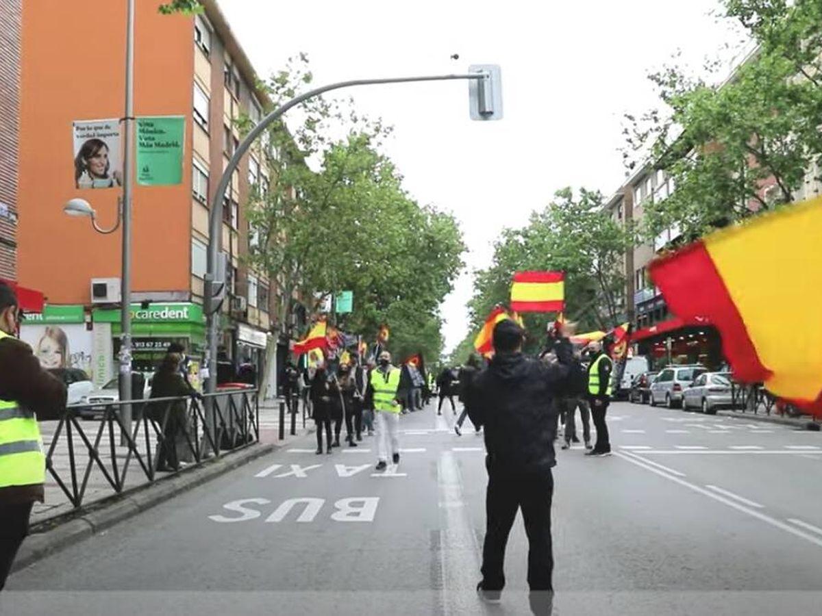 Foto: Acto nazi en Canillejas convocado por el mismo ultra que organizó la marcha de Chueca. (YouTube)