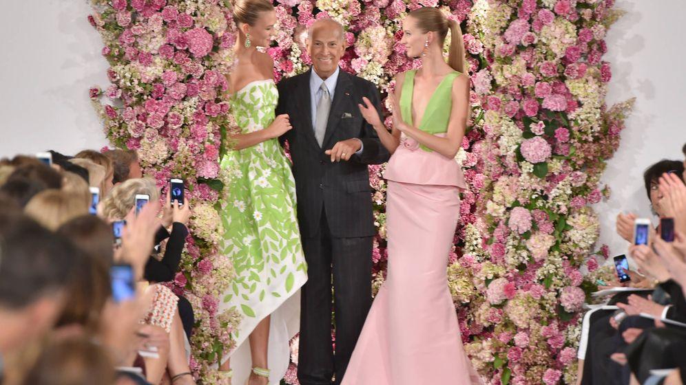 Foto: Óscar de la Renta, en la Mercedes-Benz Fashion Week de Nueva York. (Getty).