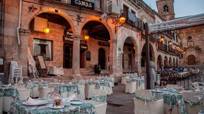 La terraza del restaurante Bizcocho, en plena Plaza Mayor. (Foto: Cortesía)