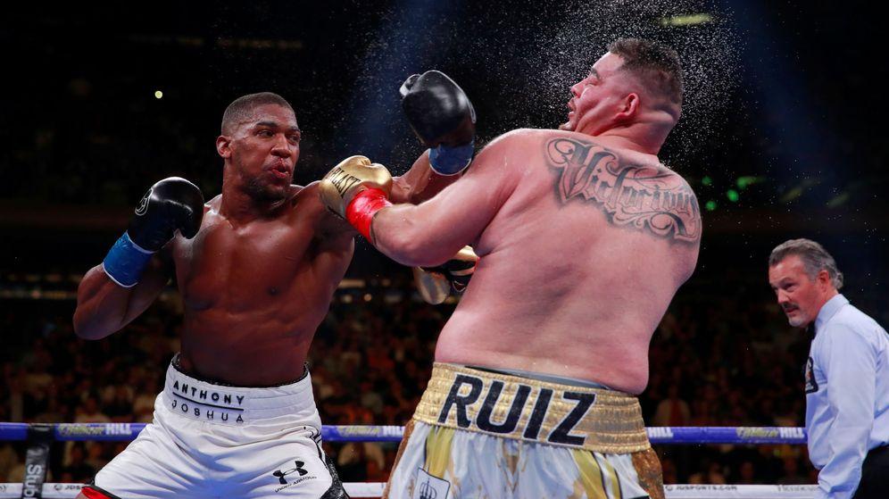 Foto: Imagen del último combate entre Joshua y Ruiz. (REUTERS)