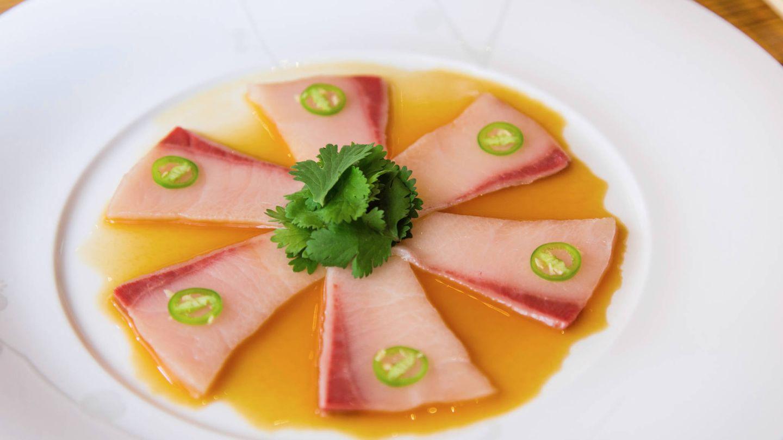 Uno de los platos estrella de Nobu: jurel con jalapeño.