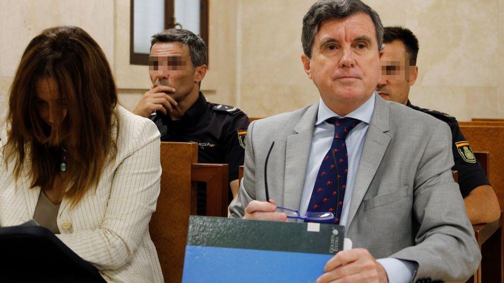Foto: El ex presidente balear Jaume Matas, en un juicio en la Audiencia de Palma.