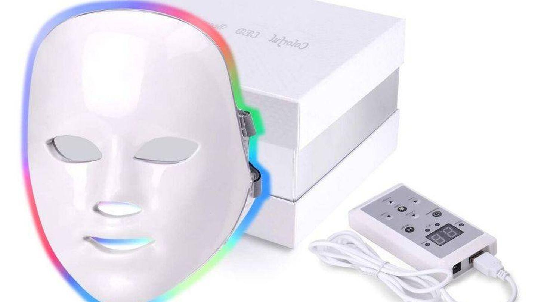 Mascarilla LED de Amazon. (Cortesía)