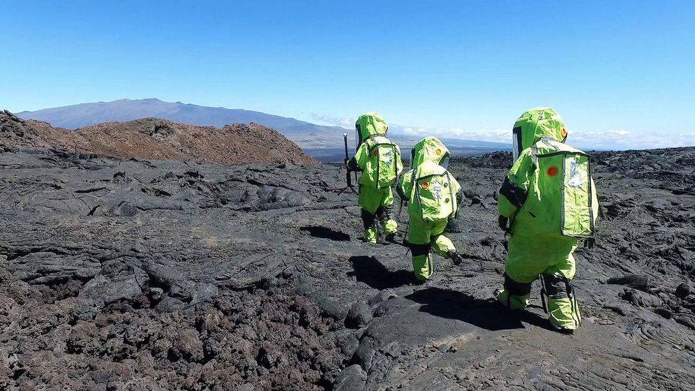 Foto: Laura Lark comenzó su aventura a principios de 2017 junto con cinco compañeros (Fuente: Universidad de Hawái I HI-SEAS V)