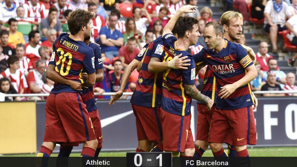 Foto: Pese al fallo de Messi, el Barcelona doblega a la tercera a un Athletic cansado