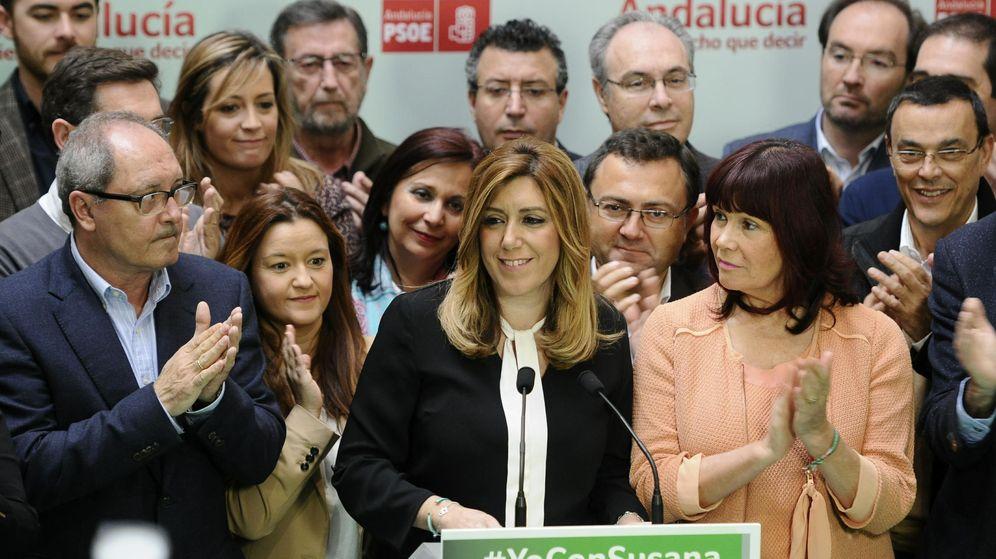 Foto: Susana Díaz, en la noche electoral. (Efe)