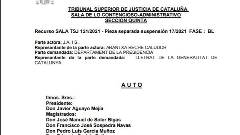 [Lea aquí el auto de medidas cautelares del Tribunal Superior de Justicia de Cataluña]